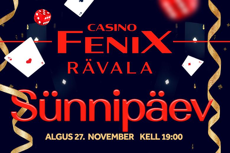 Rävala Fenix Casino sünnipäev