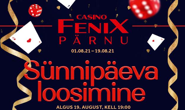 Pärnu Fenix Casino sünnipäev