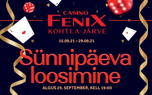 Kohtla-Järve Fenix Casino sünnipäev